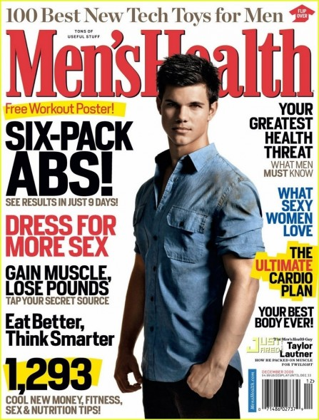 Taylor On The Cover Of Men Health Taylor Lautner Muscles