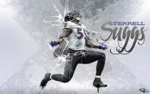 Terrell Suggs By Wallpaper James Harrison