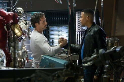 Still Of Robert Downey Jr And Terrence Howard In Iron Man