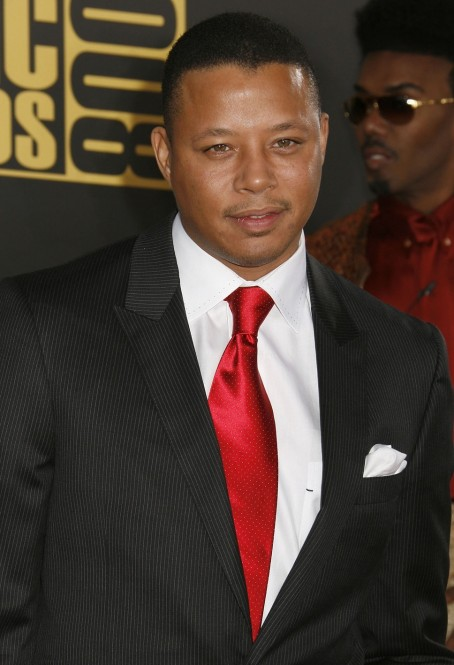 Terrence Howard Red Tie White Ex Wife