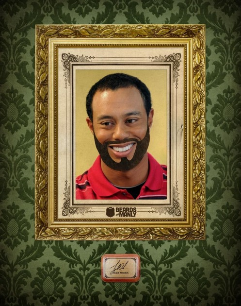 Beards Are Manly Tiger Woods