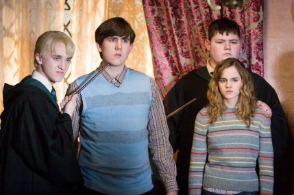 Still Of Tom Felton Matthew Lewis Emma Watson And Jamie Waylett In Harry Potter Si Ordinul Phoenix And Emma Watson