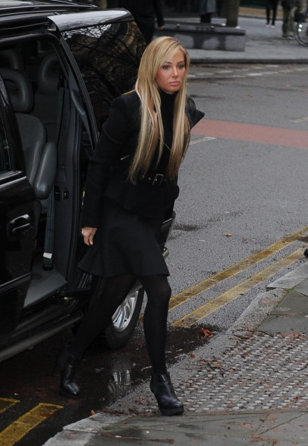 Tulisa Contostavlos Arrives At Southwark Crown Court United Kingdom January