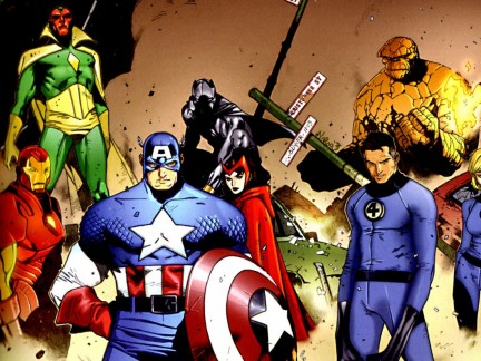 Avengers And Fantastic Four Comic Wallpapers Movie