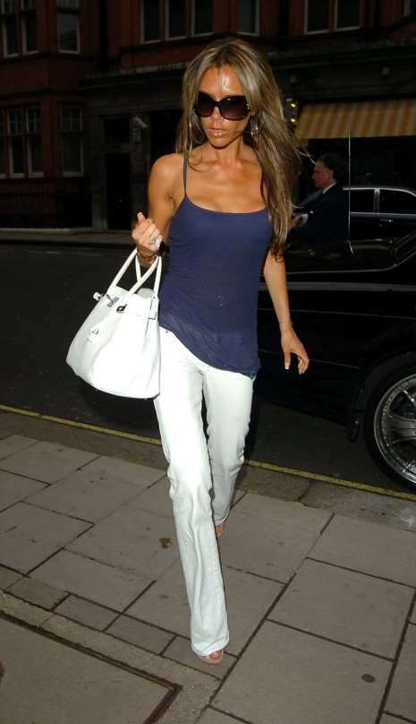 Victoria Beckham Out In London Bikini