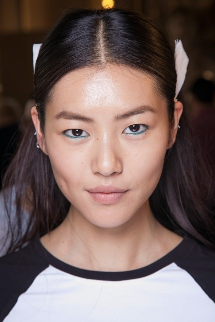 Liu Wen Backstage At Stella Mccartney Spring Pfw