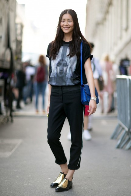 Liu Wen Styles Up Her Look Snazzy Kicks