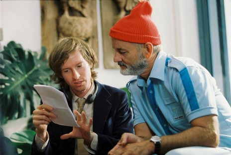 Still Of Bill Murray And Wes Anderson In The Life Aquatic With Steve Zissou Large Picture