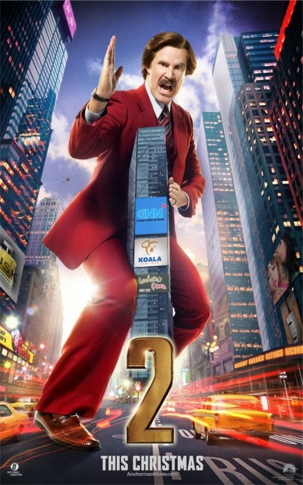 Will Ferrell In Anchorman The Legend Continues Movie Poster