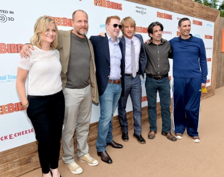 Woody Harrelson Owen Wilson Amy Poehler Ryan Kavanaugh David Ross And Steve Bbrien At Event Of Free Birds And Owen Wilson