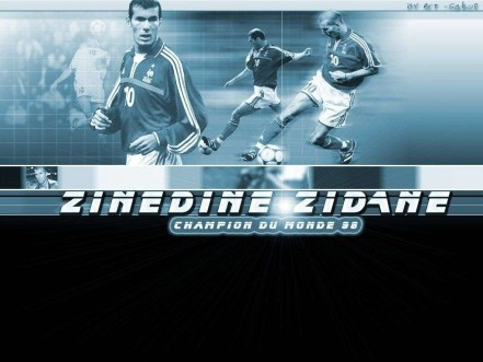 Zinedine Zidane In Blue And Black Wallpaper